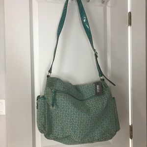 Guess by Marciano Bags - NEW GUESS teal laptop satchel